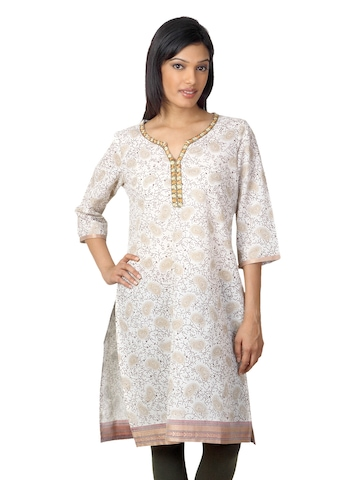 Aurelia Women Cream Kurta