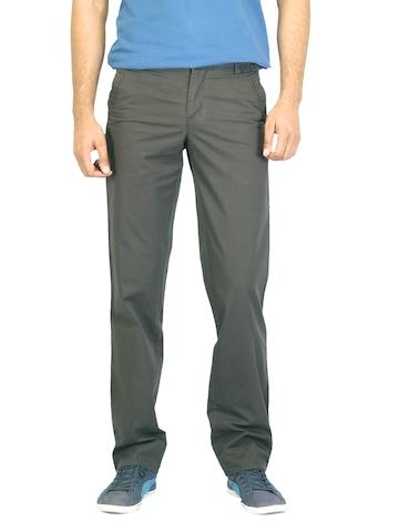 Turtle Men Striped Grey Trousers