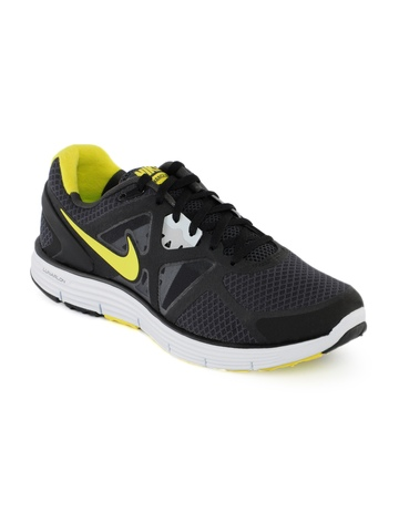 Nike Men Lunarglide Black Sports Shoes