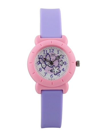 Q&Q Kids Girls White Dial Analog Watch