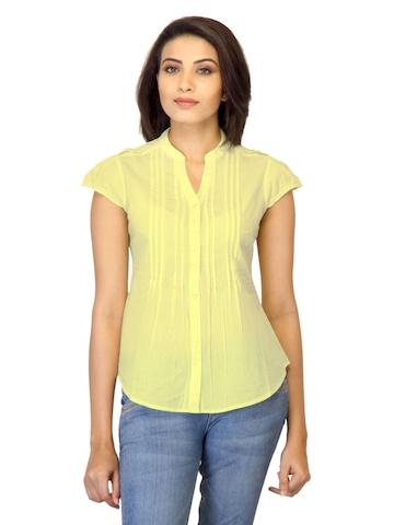 Arrow Woman Striped Light Yellow Top