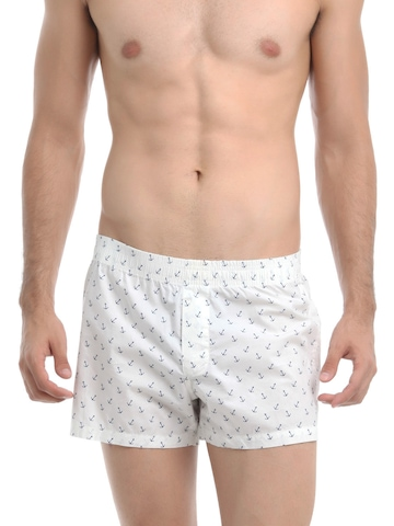 Myntra White Printed Boxers