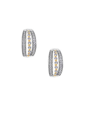 Lucera Women Silver & Gold Earrings
