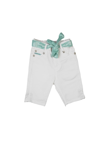 Gini and Jony Girls Fixed Weast White Capris