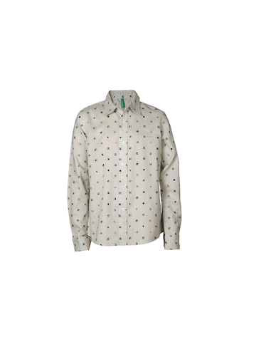 United Colors of Benetton Boys Printed White Shirt
