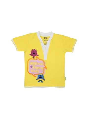 Mr.Men Boys Blazing Yellow T-shirt