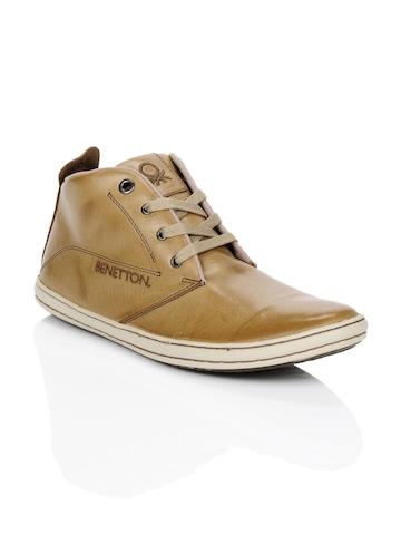 United Colors of Benetton Men Camel Shoes