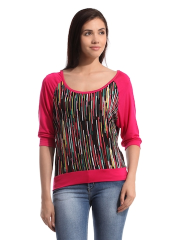 Tonga Women Pink Printed Top