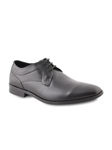 Clarks Men Leather Black Formal Shoes