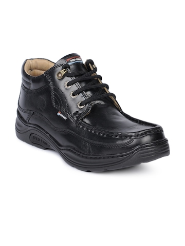 Red Chief Men Black Shoes