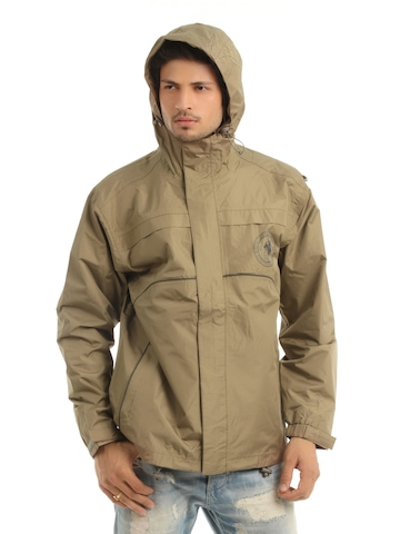 Just Natural Unisex Brown Rain Jacket