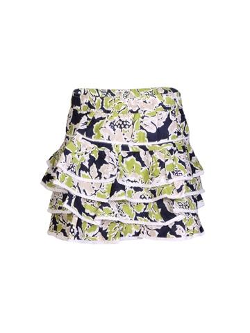 United Colors of Benetton Kids Girls Printed Green Skirt