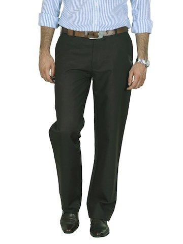 Peter England Men Brown Formal Trousers