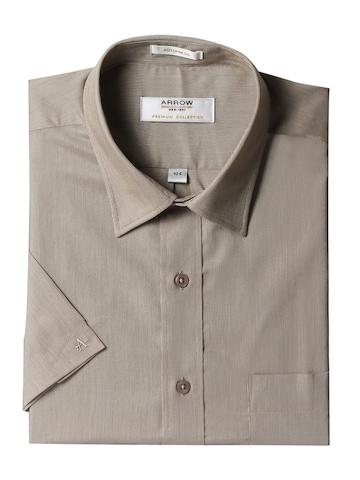 Arrow Men Brown Shirt