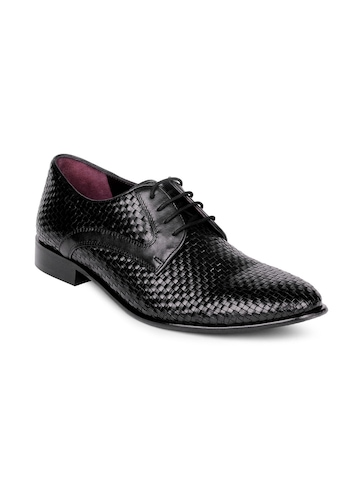 Arrow Men Black Formal Shoes
