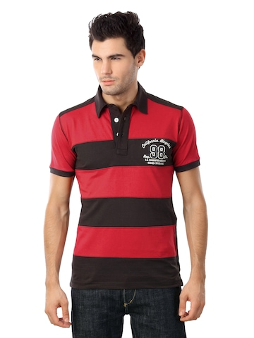 Status Quo Men Red & Charcoal T-shirt