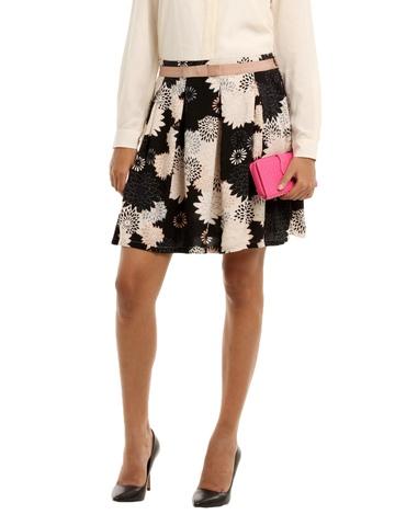 Femella Women Grey Printed Skirt