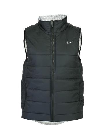 Nike Women Solid Black Jackets