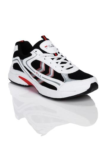 FILA Men Trempet Black & White Sports Shoes