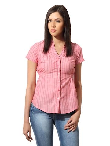 Lee Women Jane Pink Striped Shirt