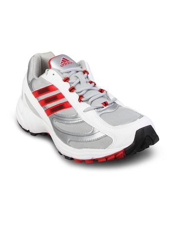 Adidas Men's Silver White Running Shoe