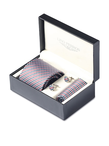 Lino Perros Men Formal Blue Accessory Gift Set