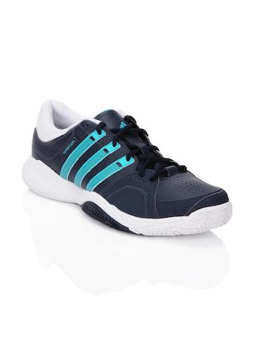 Adidas Men Ambition VII Stripes Navy Blue Sports Shoes