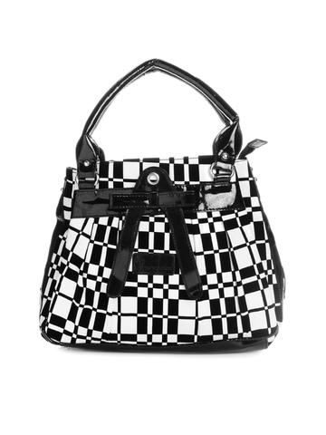 Peperone Women Black & White Handbag