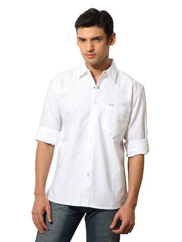 Wrangler Men Nimrod Oxford White Shirt