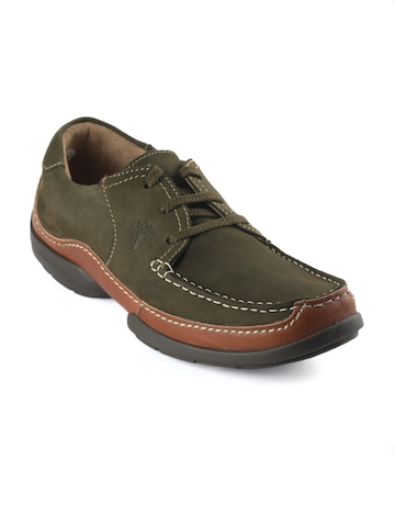 Woodland Men Olive Casual Shoes