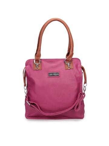 Lino Perros Women Leatherette Magenta Handbag