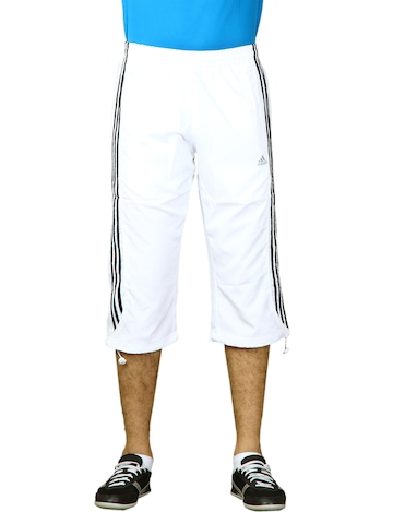 Adidas Men Cress 3s3 4 Pan White Capris