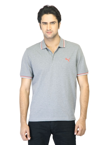 Puma Men Foundation Polo Grey T-shirt