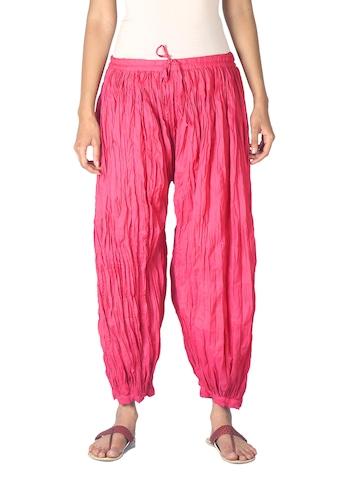 Fabindia Women Pink Harem Pants