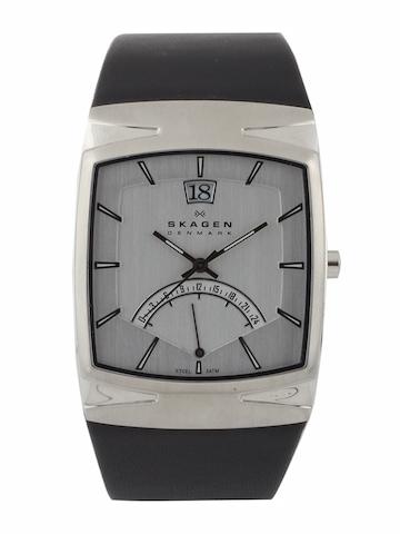 SKAGEN DENMARK Men Silver-Toned Dial Watch 568LSLZM
