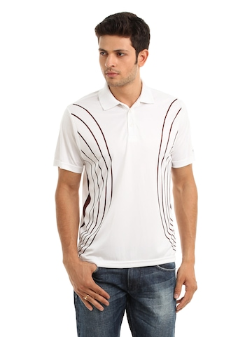 Fila Men White Polo T-shirt