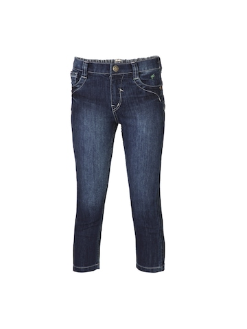 Gini and Jony Girls Woven Navy Blue Jeans