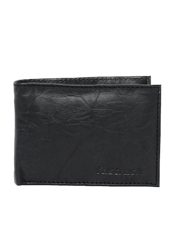 Fastrack Men Leather Black Wallet