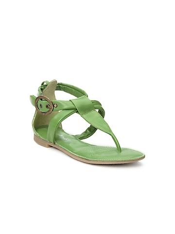 Enroute Kids Girls Green Sandals