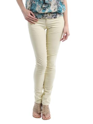 Kraus Jeans Women Cream Trousers