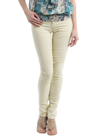 Kraus Jeans Women Cream Trousers