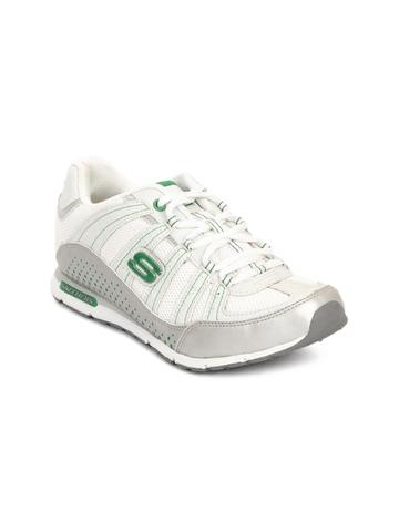Skechers Women White Sports Shoes