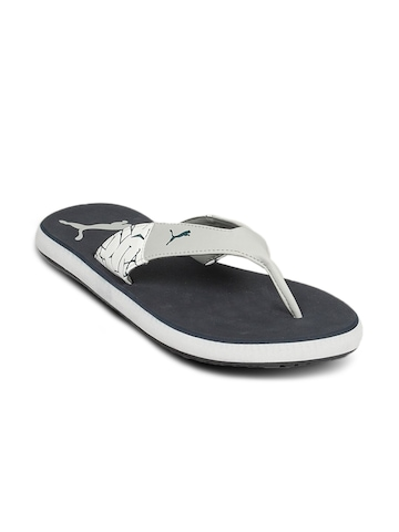 Puma Men's Winglet Grey Navy Flip Flop