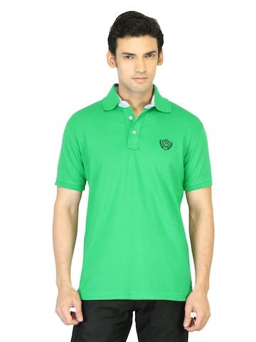 Proline Men Green Polo T-shirt