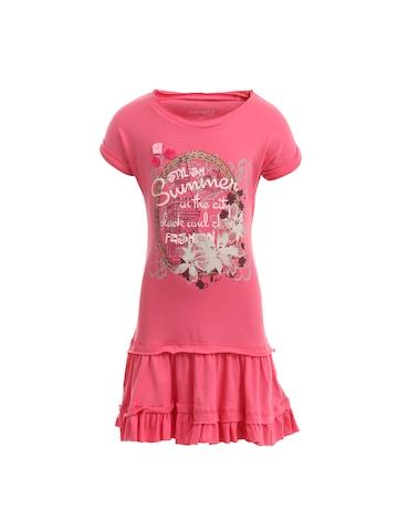 Doodle Girls Pink Printed Dress