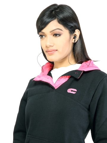 C Vox Women Solid 1355 Black Sweatshirt