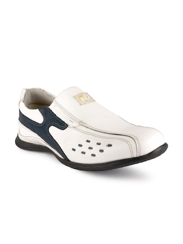 iD Men White Casual Shoes