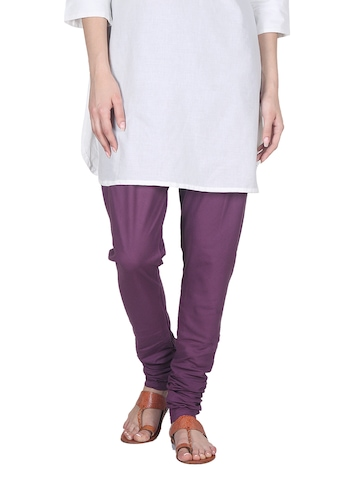 Fabindia Women Purple Churidar
