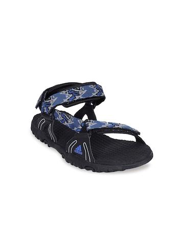 Adidas Men Neo Feather Black Blue Sandal