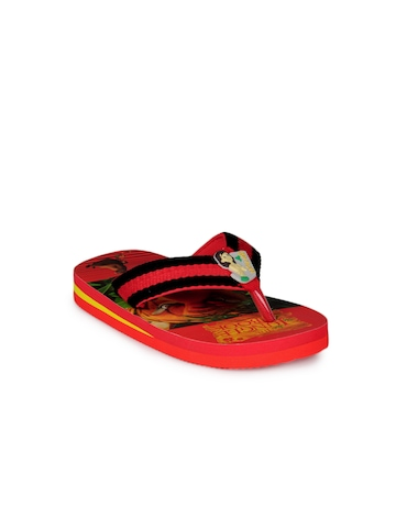 Jungle Book Boys Red Flip Flops